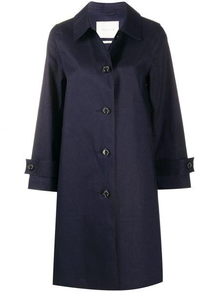 Синее пальто классическое с воротником на пуговицах Mackintosh