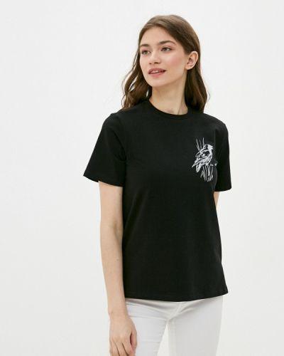 С рукавами черная футболка Be Main
