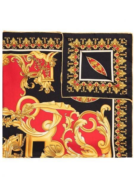 Черный шелковый платок Versace