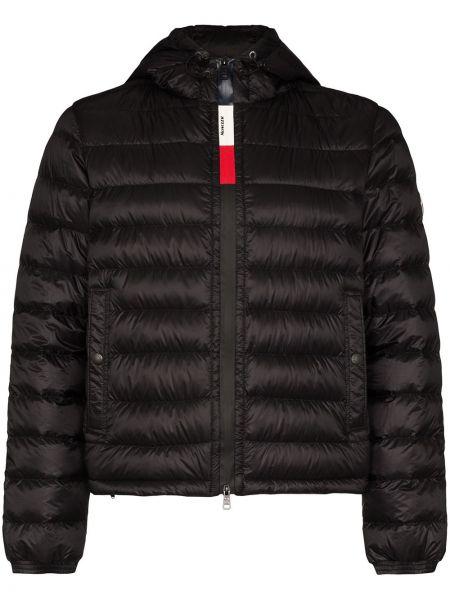 Czarna kurtka z kapturem kopertowa Moncler