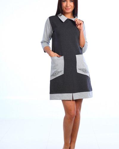 Повседневное платье из футера хлопковое Грандсток