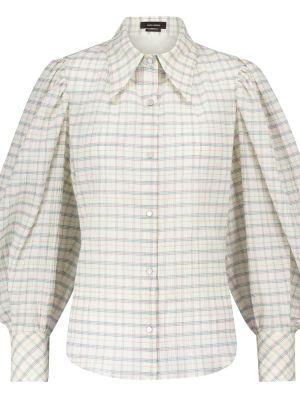 Базовая зеленая шелковая блузка Isabel Marant