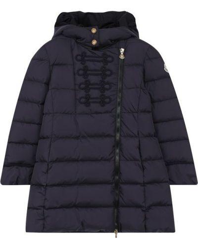 Пальто с капюшоном стеганое на молнии Moncler Enfant