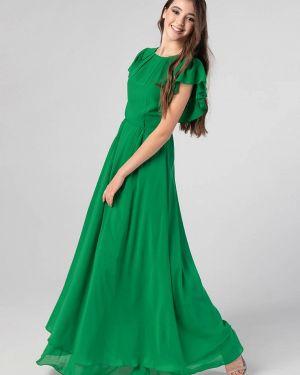 Зеленое вечернее платье Nai Lu-na By Anastasia Ivanova
