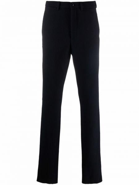 Niebieskie spodnie z paskiem Giorgio Armani