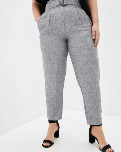 Прямые серые брюки Marks & Spencer