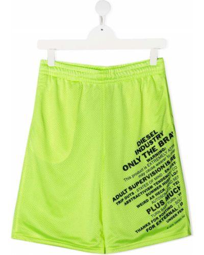 Зеленые шорты эластичные Diesel Kids