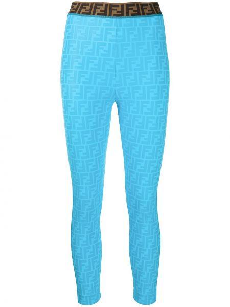 Облегающие синие леггинсы Fendi