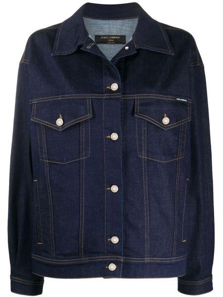 Джинсовая куртка оверсайз на пуговицах Dolce & Gabbana Underwear