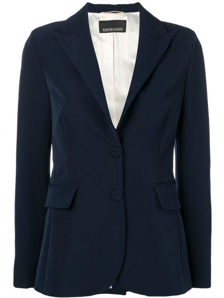 Синий пиджак с манжетами Ermanno Ermanno