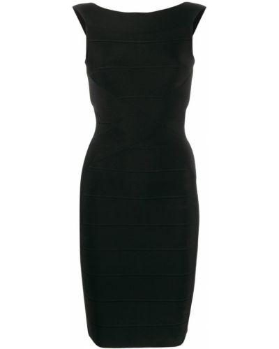 Приталенное платье мини - черное Herv Lger
