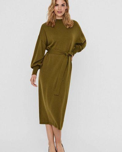 Вязаное платье хаки Vero Moda