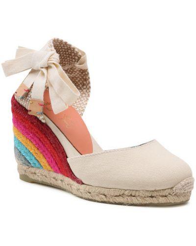 Beżowe sandały espadryle Castaner