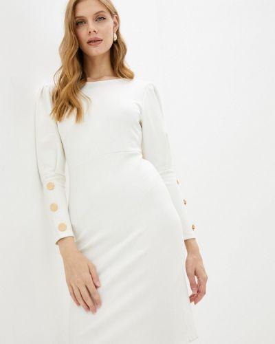 Платье футляр - белое Moki