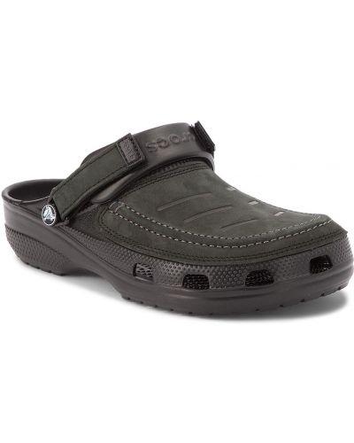 Chodaki skórzany czarny Crocs