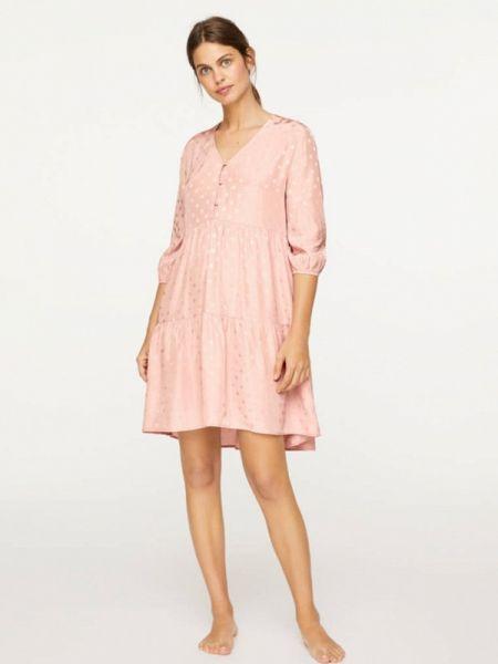 Платье розовое весеннее Oysho