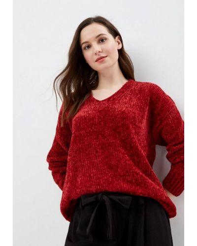 Пуловер бордовый красный Piazza Italia
