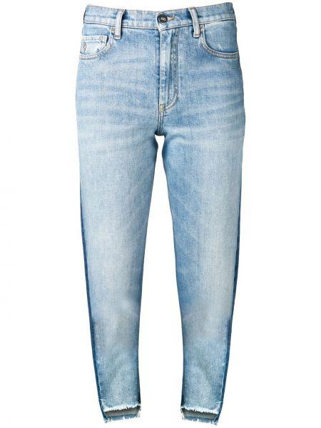 Классические хлопковые синие джинсы на пуговицах Marcelo Burlon. County Of Milan