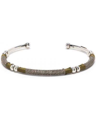 Zielony łańcuch ze srebra srebrny Gas Bijoux
