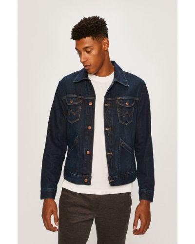 Синяя джинсовая куртка на пуговицах с манжетами прозрачная Wrangler