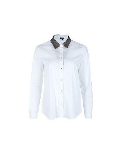Белая рубашка хлопковая Armani Jeans