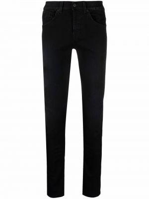 Черные джинсы с заниженной талией Dondup