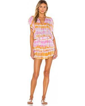 Платье мини из вискозы со складками Coolchange