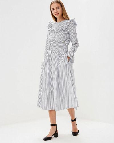 Белое платье с длинными рукавами Akhmadullina Dreams