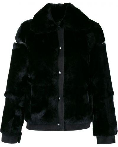 Кожаная куртка черная длинная Cara Mila