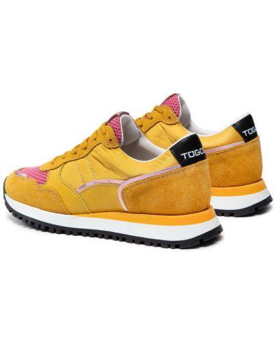 Żółte sneakersy Togoshi