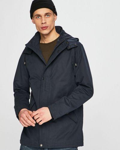 Куртка с капюшоном легкая темно-синяя Casual Friday