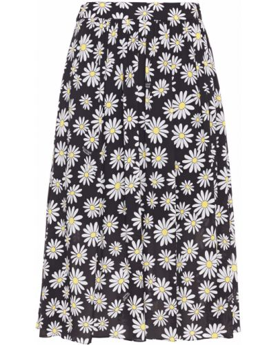 Черная юбка с карманами из вискозы Boutique Moschino