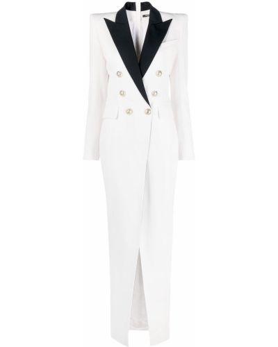 Sukienka wieczorowa, biały Balmain
