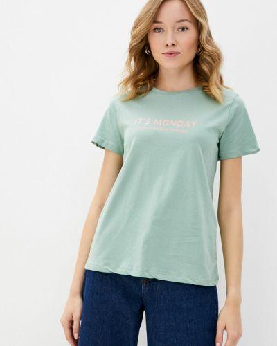 Бирюзовая с рукавами футболка Trendyol