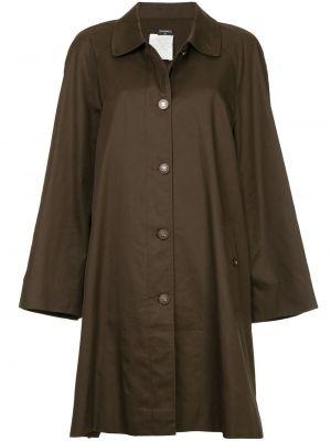 Коричневое шерстяное пальто классическое с воротником Chanel Pre-owned