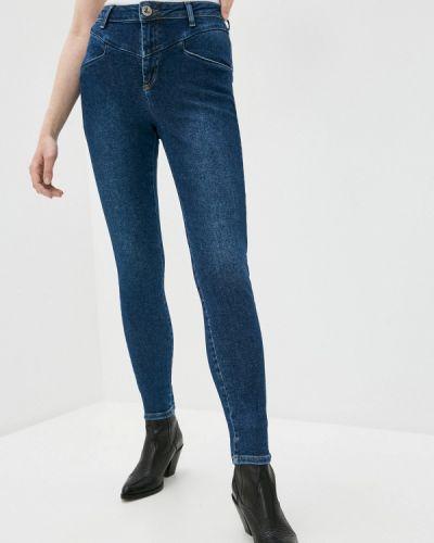 Синие джинсы-скинни узкого кроя One Teaspoon