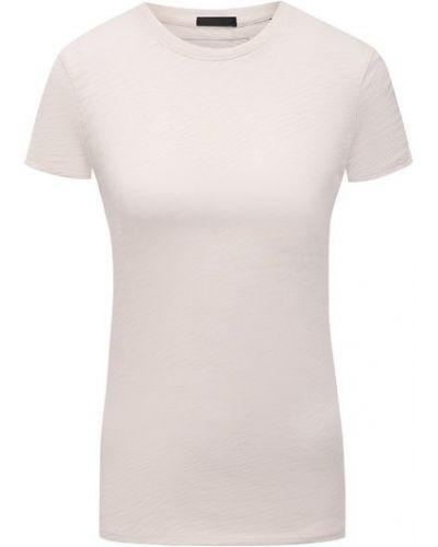 Бежевая хлопковая футболка Atm Anthony Thomas Melillo