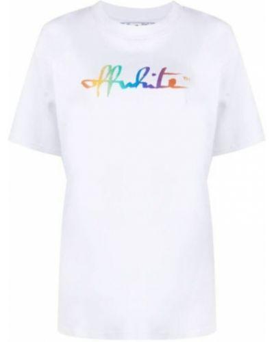 Podkoszulka z printem - biała Off-white