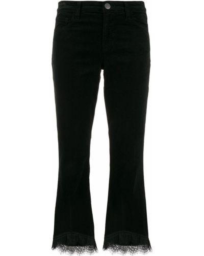 Укороченные брюки расклешенные с заниженной талией J Brand