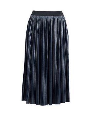 Плиссированная юбка синяя Liu Jo