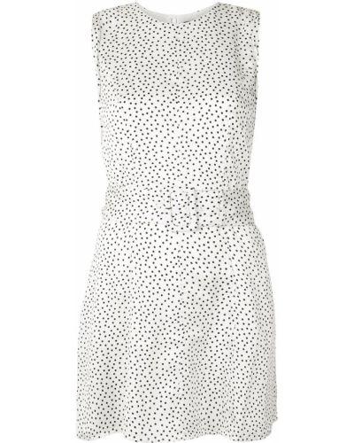 Белое платье без рукавов с вырезом круглое Alexis