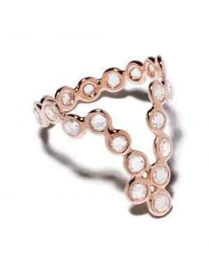 Różowy złoty pierścionek z diamentem Lito