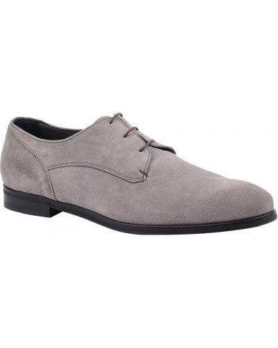 Туфли замшевые серые Z Zegna