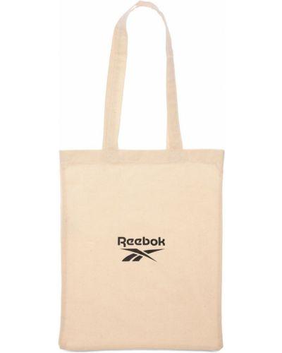 Beżowa torebka bawełniana Reebok Classics