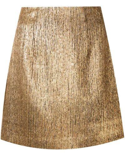 С завышенной талией желтая юбка мини из вискозы Ginger & Smart