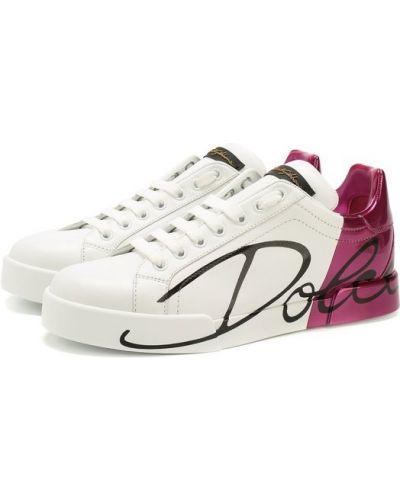 Кеды кожаные Dolce & Gabbana
