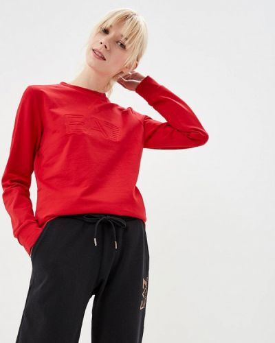 Красный свитшот Ea7