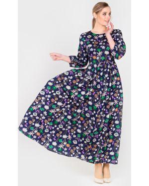 Летнее платье макси с цветочным принтом Filigrana