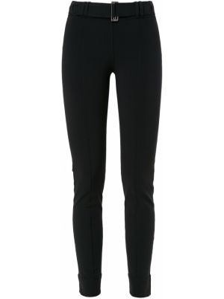 Черные брюки с поясом с пряжкой металлические Gloria Coelho