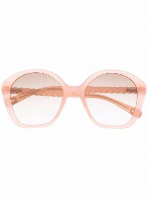 Różowe okulary Chloé Kids